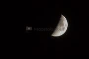 <h5>Puolikuu</h5><p>Puolikas kuu-ukko paistaa taivaalla. Kuva otettu vuodenvaihteessa. Tunnus: img_8098</p>