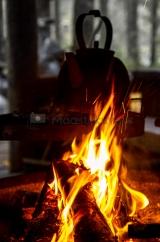<h5>Vanha kahvipannu</h5><p>Nokipannukahvit tulilla. Tunnus: img_1069</p>