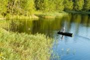 <h5>Kesäkalastus</h5><p>Mies kalastaa haukea kaislikon laidassa kesäiltana. Tunnus: img_0805</p>